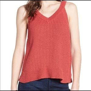 Madewell Pink Stockton Sweater Tank NWT